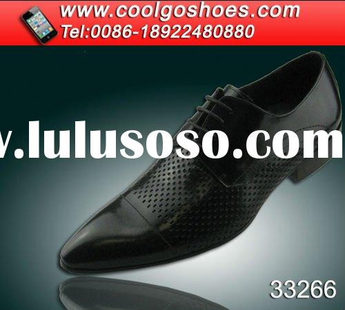 Italy design Men dress leather shoes more hole pattern shoes in Upper made in Guangzhou