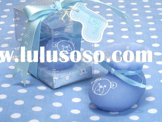Oh How Cute! Blue Teddy Bear Baby Booty Candle Shower Favors