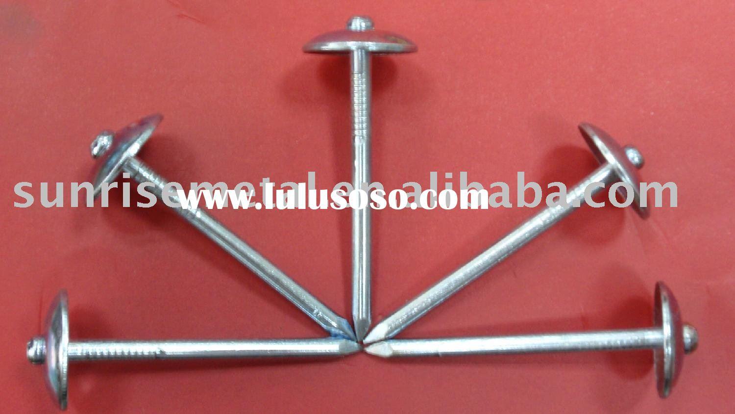 Roofing nails/ umbrella head roofing nails