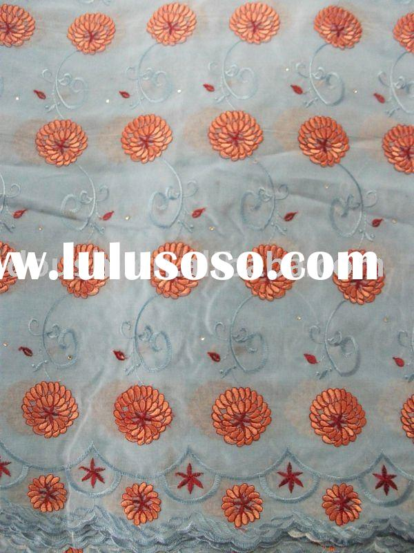 embroidery fabric/african lace/swiss voile lace