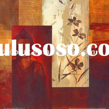 hand painted canvas BUDDHA ABSTRACT oil painting