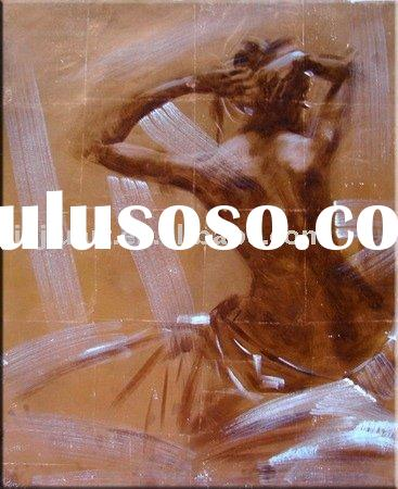 new-0106 (handmade lady oil painting,abstract,modern art,people,canvas oil painting)