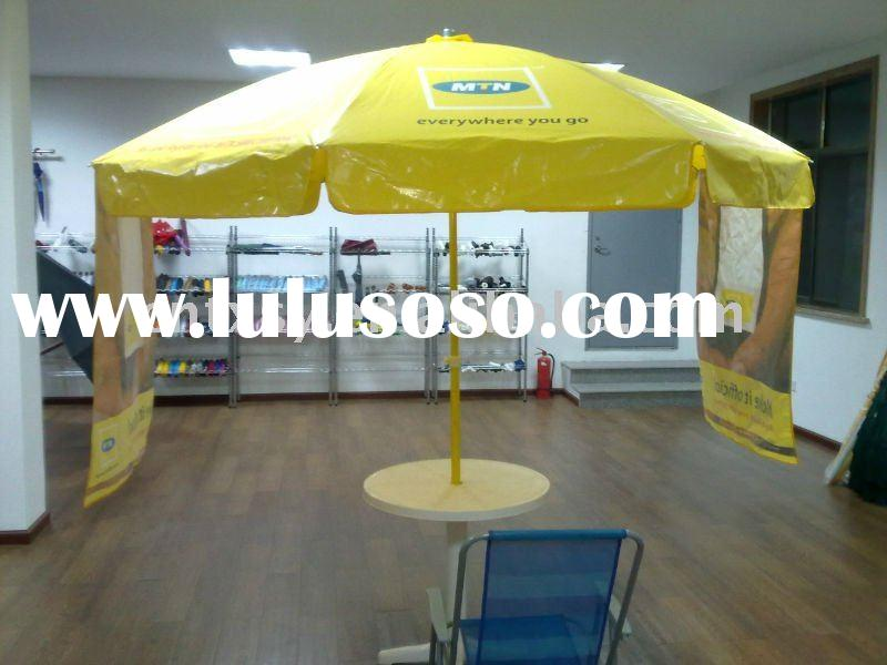 pvc fabric beach umbrella for promotion