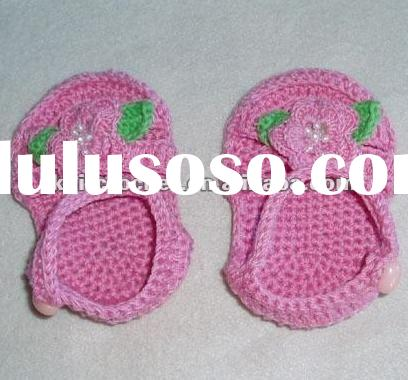 Hand Crochet Knit Baby Shoes Booties Slippers