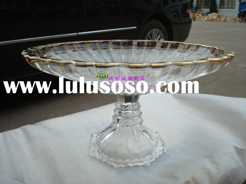 New design--#(354-J)Chocolate plate,fruit holder,candy tray,crystal glass plate,sweet plate