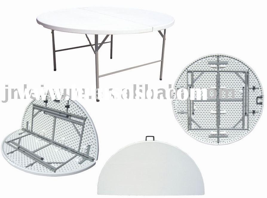 plastic folding table , round table , portable folding table