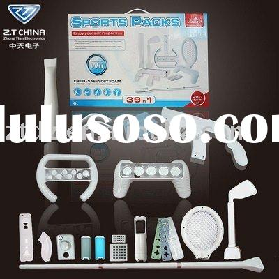 for wii 39 in 1 sports kit white color with fishing rod PG-WIT32