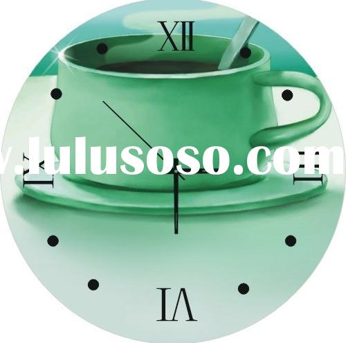 Decorative Wall Clock Painting Clock Round Shape