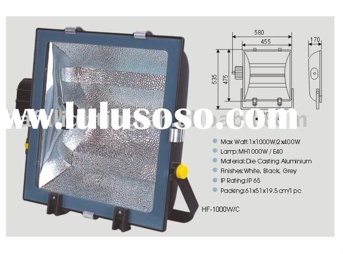 Flood light outdoor housing Metal Halide 1000w , IP65 , thermal glass , die casting aluminum