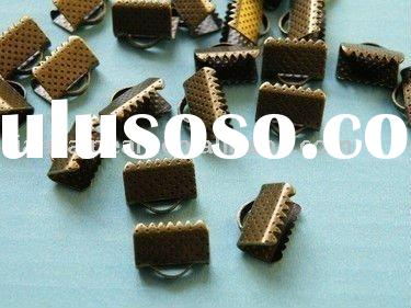 10mm Cord End Cap Crimp Square Fasteners Clasps Antique brass bronze Jewelry Findings Accessories Fi