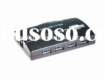 4 port USB 3.0 hub with power adapter,External power adapter allows to connect any USB peripherals