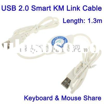USB 2.0 Smart KM Link Cable, Keyboard & Mouse Share, Length: 1.3m