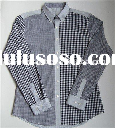 dress shirt for man<yarn dyed t/c fabric>
