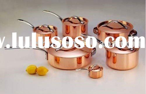 exlusive and green Clad copper cookware set