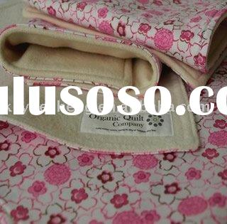 100% organic cotton/bamboo baby blankets/ double layer/super soft