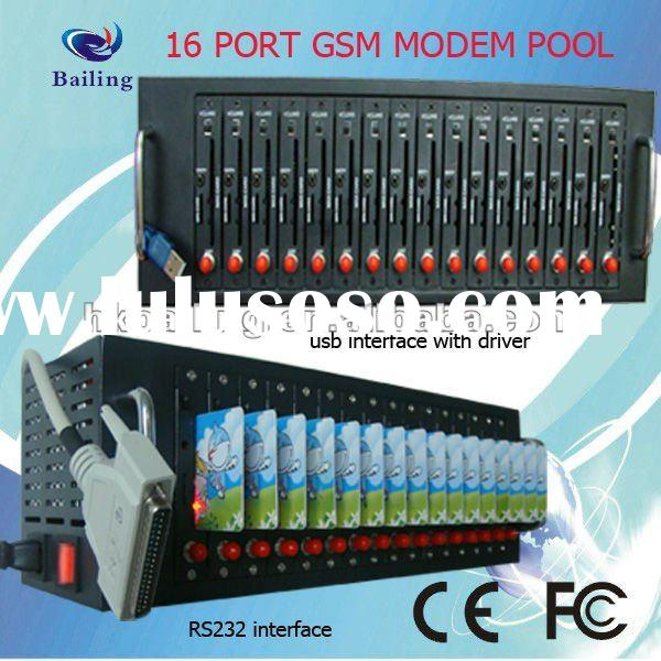 16 Sim Card Multi-port Modem Pool,GSM/GPRS SimBox RS232