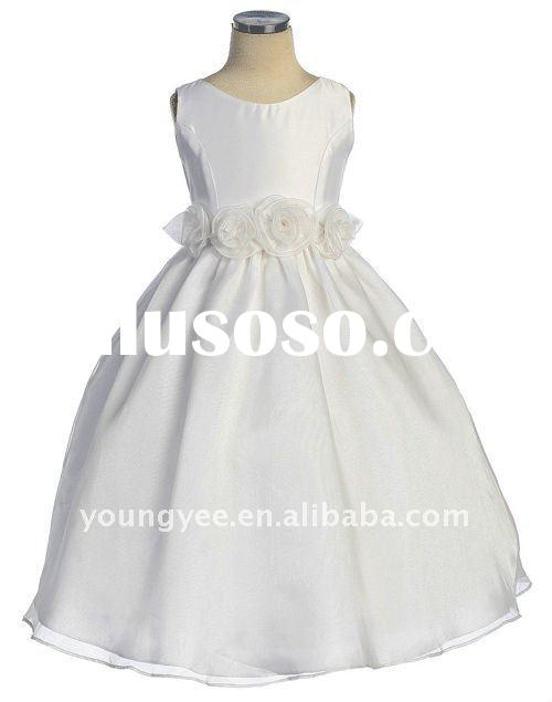 2011 hot sale flower sash and ball gown flower girl dresses for weddings, spanish flower girl dress,