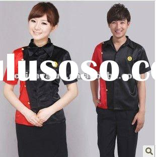 2012 latest design for hotel uniforms