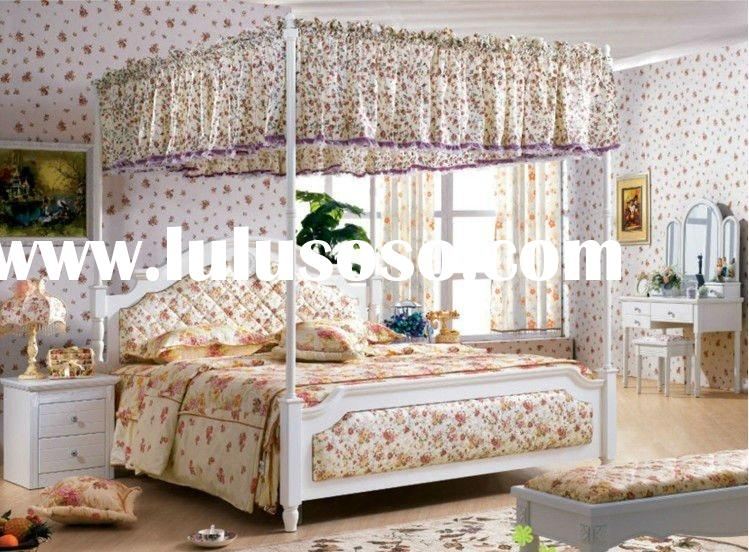 Korean country style queen size canopy bed