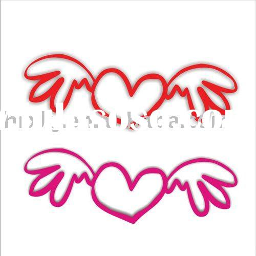 Love heart shape silicone rubber band