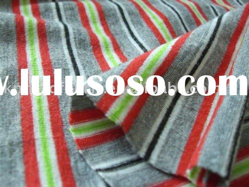 POLY SPUN OP YARN DYED STRIPES (KNITTING FABRIC)