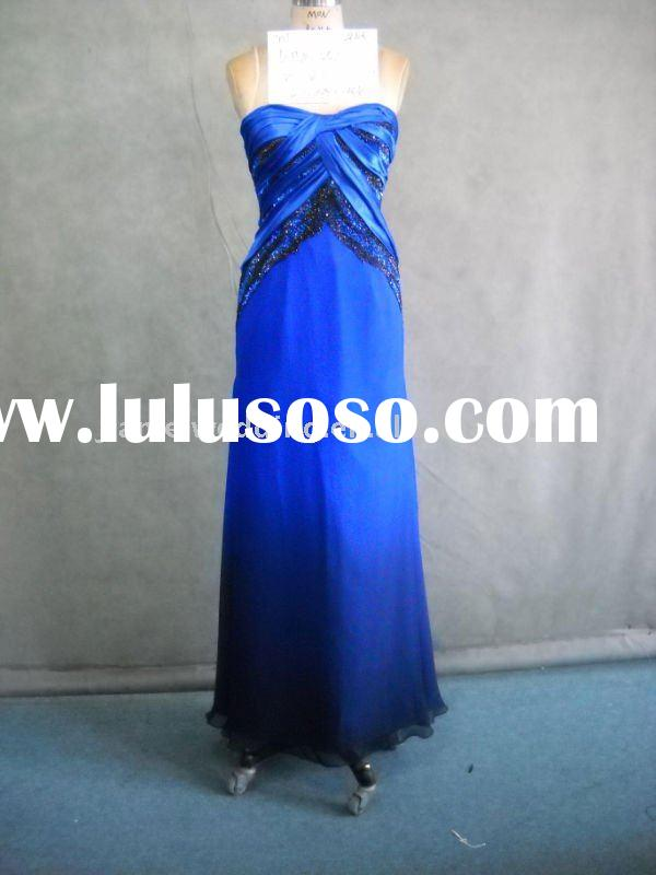 Royal blue evening dress for party Model KP4-550