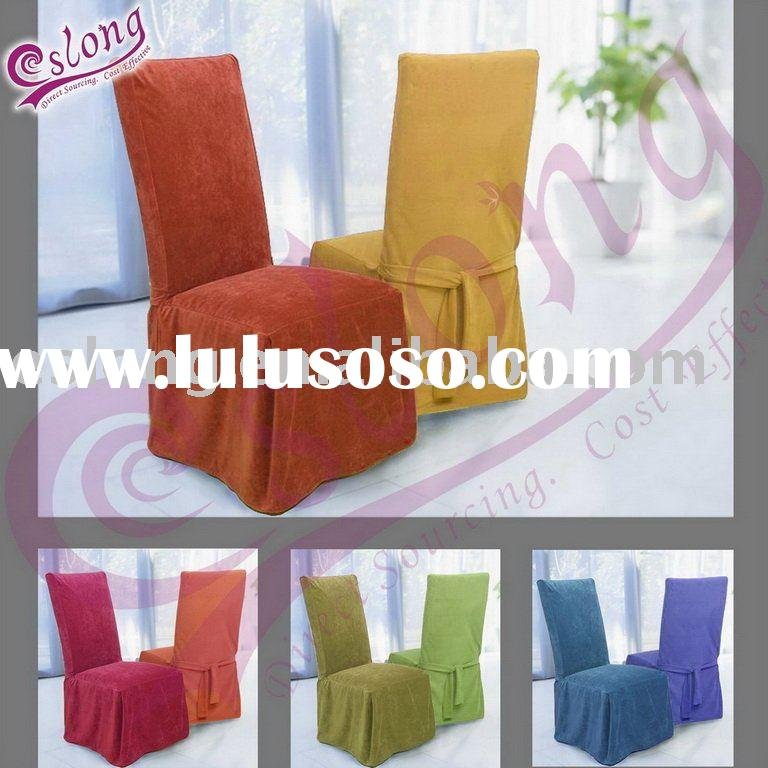 Solid Cotton Dining Room Chair Cover