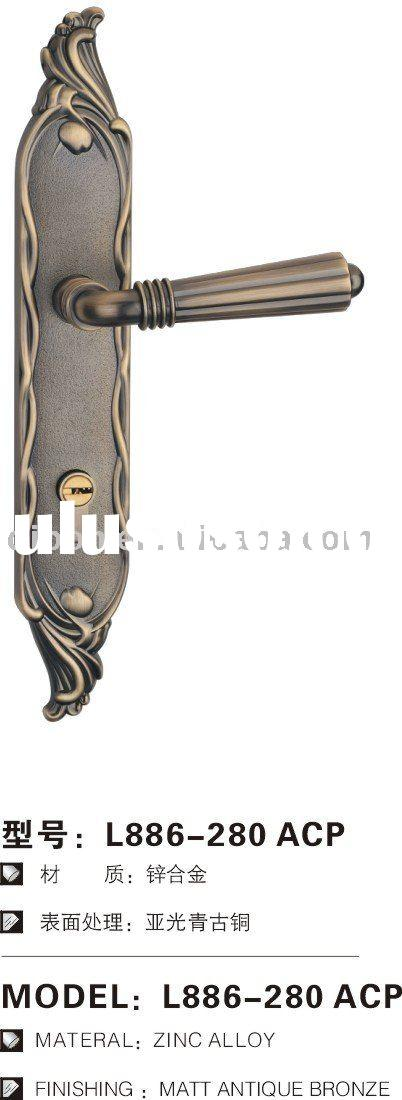 matt antique bronze Euro entry lever door handle lock, zinc alloy door lock, door handle lock
