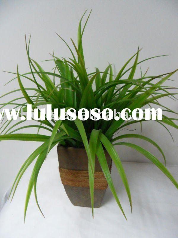 wall decoration artificial plant with clay pot