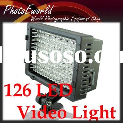 126 LED camera flash Video light for Canon 1000D 500D 50D 1D 5D II