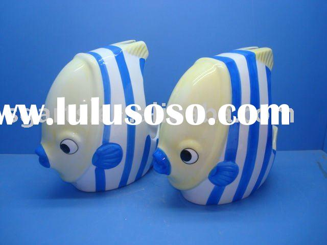 Ceramic Toilet Brush Holder with fish shape