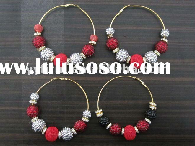 Round hoop basketball wives hoop earring!!2012 New Poparazzi earring!!