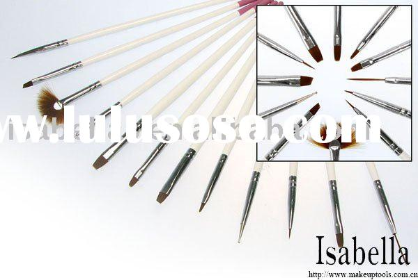 Top Quality Professional 12 pcs professional nail art brush set