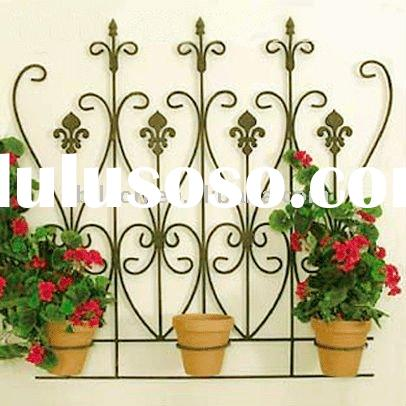 wrought iron flower pot holders