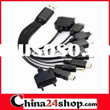 10 in 1 USB mobile phone charger cable