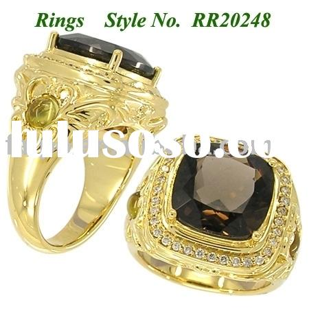 14K GOLD WITH GEMSTONE RING