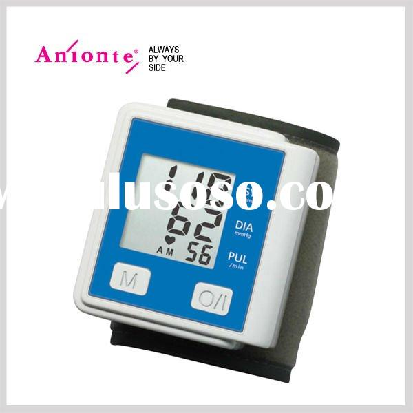 Digital wrist blood pressure monitor with 90 sets of memory