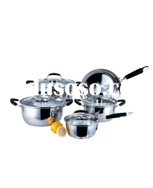 Stainless steel 9pcs Cookware sets