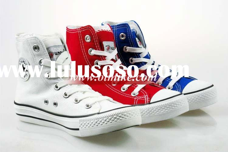 Wholesale canvas shoes women high tops shoes trainers MOQ 20 Pairs UCS030