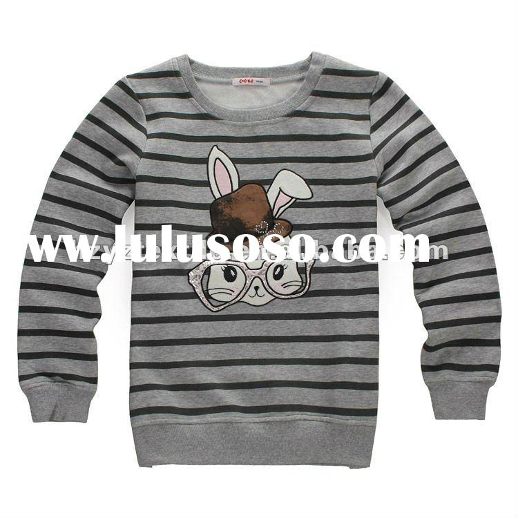 2012Spring girls long sleeve stripe t-shirt