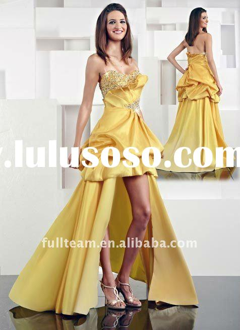 2012 Fashion High Low Prom Dresses Made in China