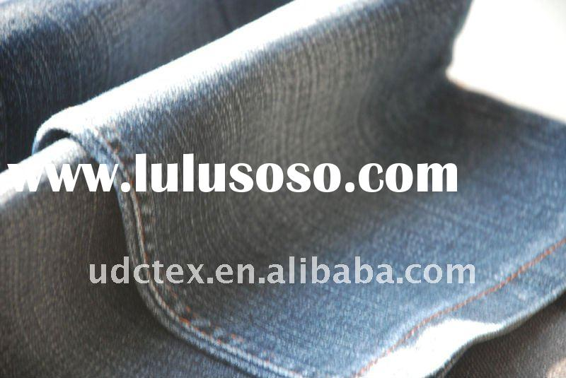 Cotton/Polyester Denim Fabric(stretch, slub)