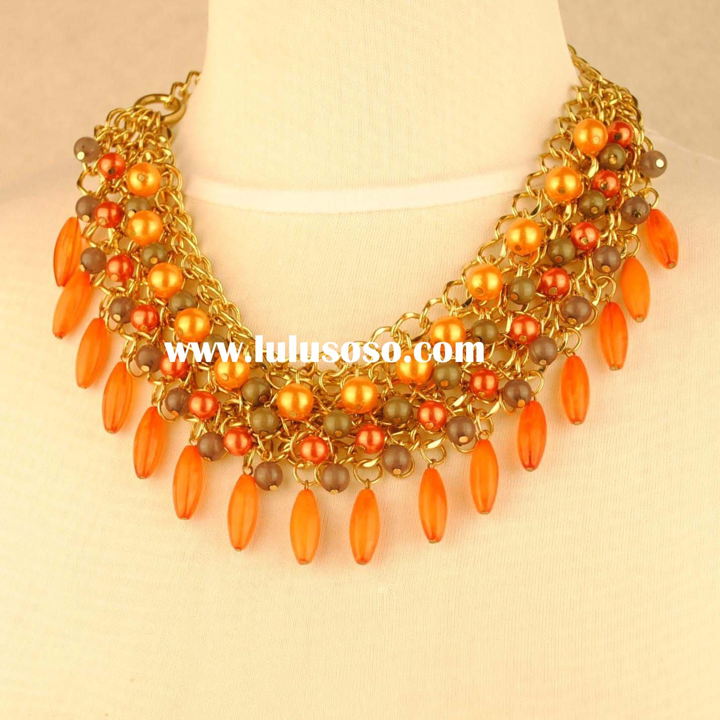 Fashion pearl and acrylic beads necklace