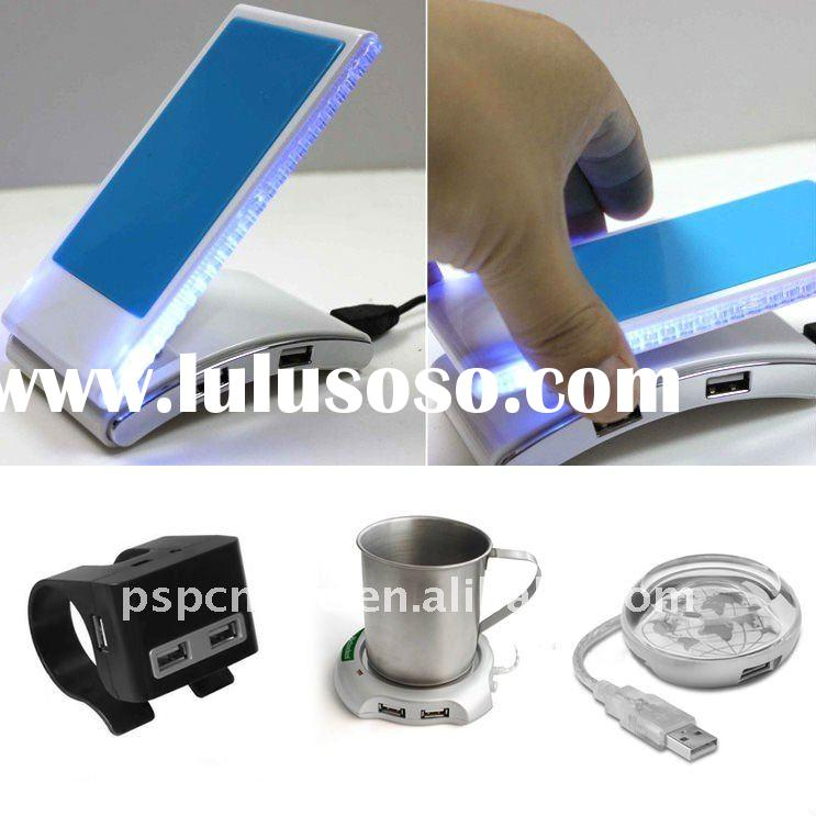 Foldable USB Hub with Mobile Phone Holder/stand+led light&phone charger