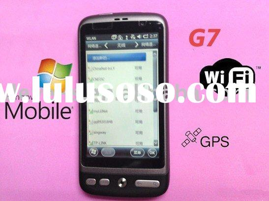 G7i 3.7 Inch Windows 6.5 OS,dual sim smart mobile phone,5MP camera build in GPS navigation,WIFI