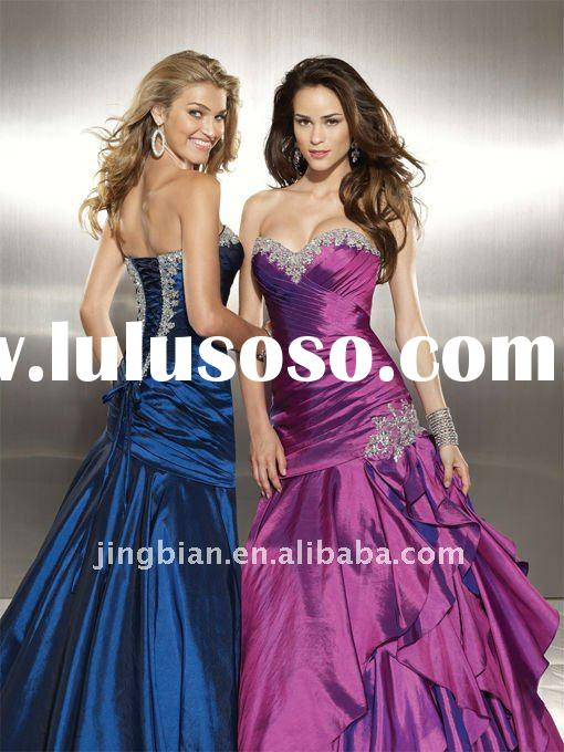 Hot Sell Grand Fashion Dress Mermaid Style Prom Dresses 2012 with Beaded Coeset Bodice Empire Styled