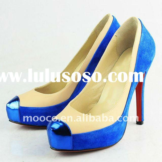 Latest designer red sole high heel shoes woman 2012