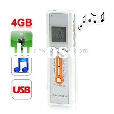 Telephone Recording, VOR Function,4GB Digital Voice Recorder Dictaphone MP3 Player