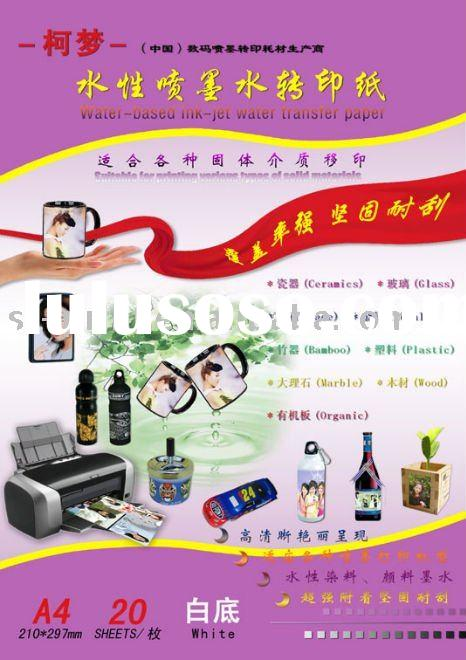White Water-based Ink-jet Water Transfer Paper,Decal Paper,Melamine Paper,Transfer printing paper