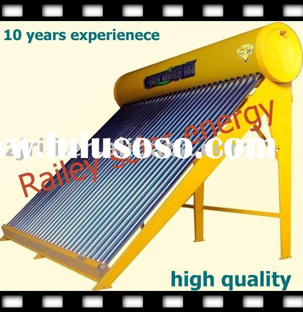 compact solar water heating system for home or pool